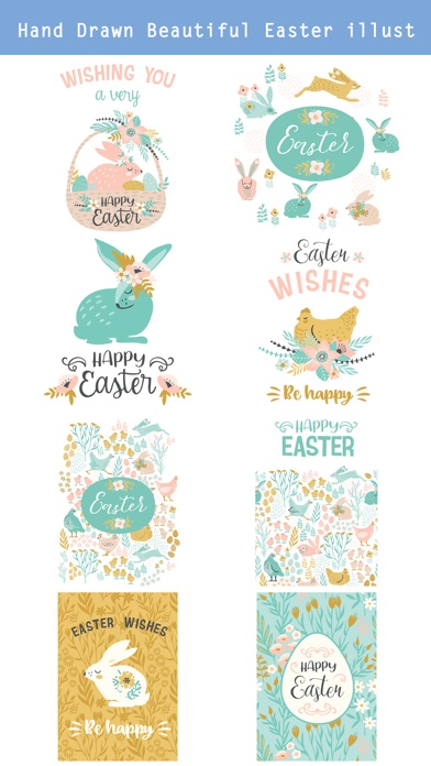 Hand Drawn Easter Day Stickers screenshot 2