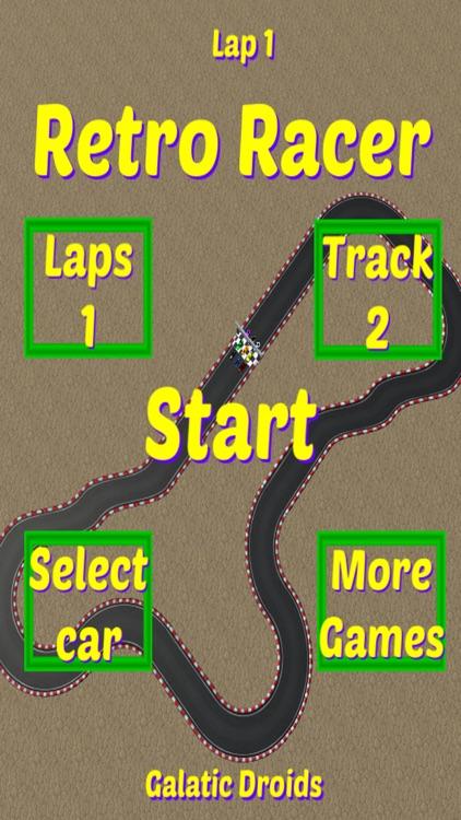 Retro Racer arcade race game screenshot-3