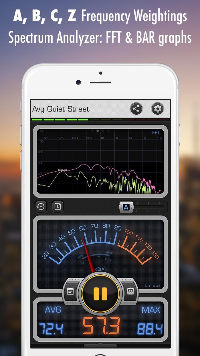 Decibel X: dB, dBA Noise Meter Screenshot