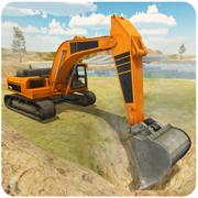 重型挖掘机模拟器 - 3D工程起重机操作员与砂运输卡车司机