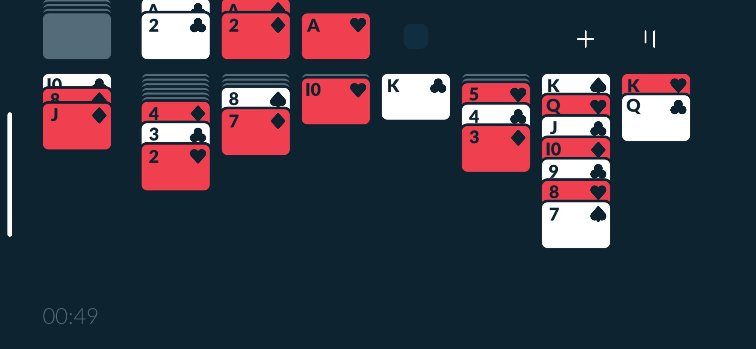 Screenshot do app Solitaere