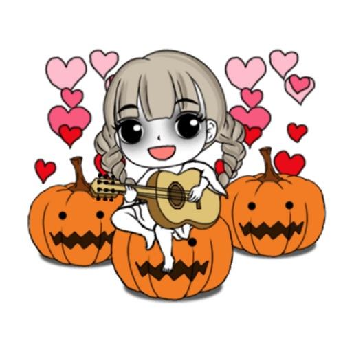 Cute Girl Makeup In Halloween