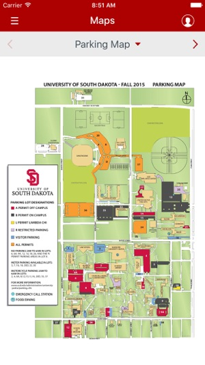 Usd Vermillion Campus Map.Usd Yote Life On The App Store