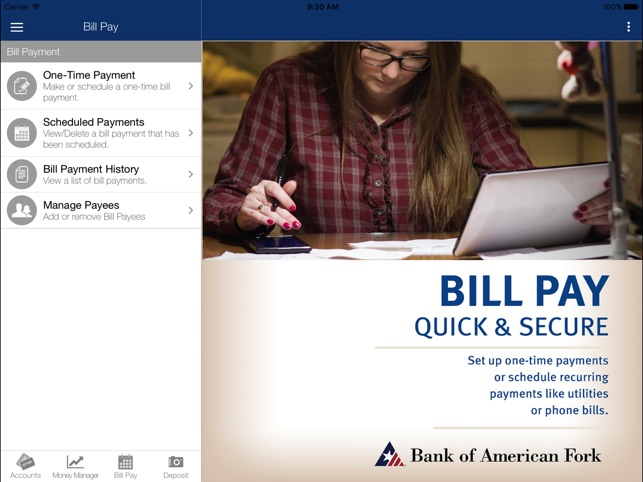Bank of American Fork for iPad on the App Store