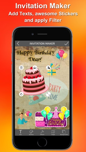 Invitations maker on the app store stopboris Choice Image