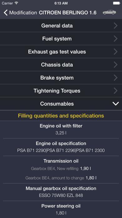 TechApp for Citroën Screenshot