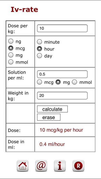 Pediatric Iv calculator