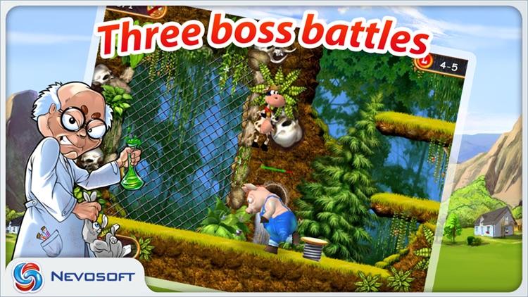 Supercow: funny farm arcade platformer Lite screenshot-3