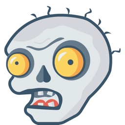 Zombie Faces Stickers