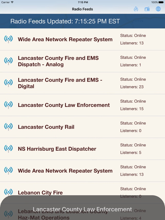 Lancaster Incidents and Radio on the App Store