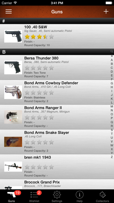 Gun Firearm Ammo Database