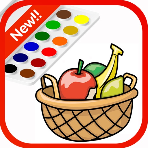Happy Coloring Painting of Fruits