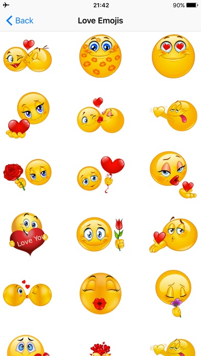 Flirty Emoji Adult Icons