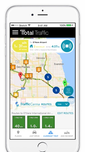 gps app for iphone total traffic on the app 14234