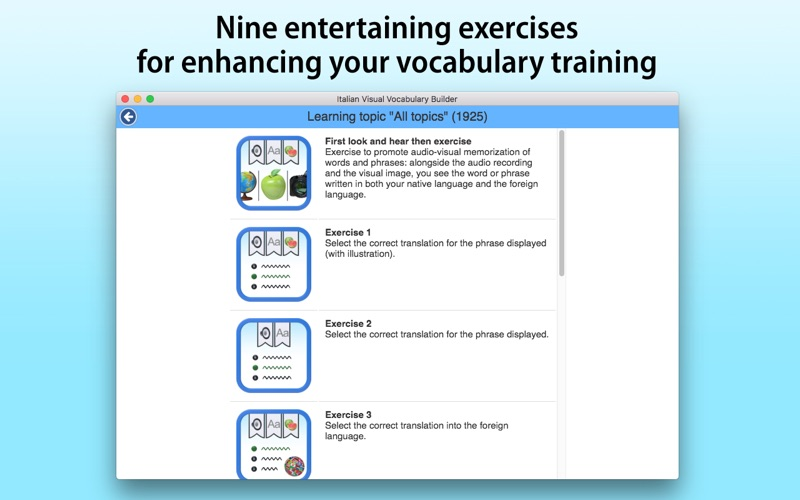 Italian Vocabulary Builder screenshot 4