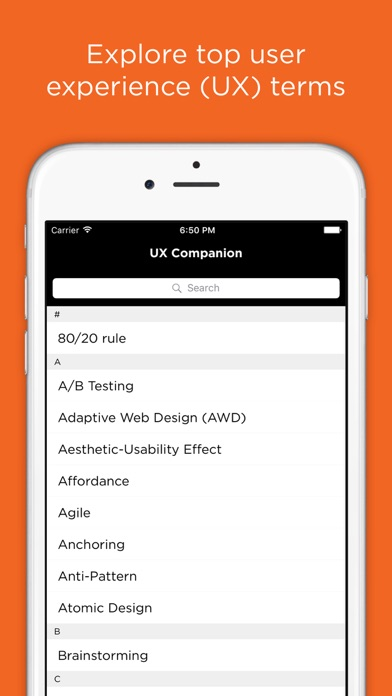 Screenshot for UX Companion in Portugal App Store