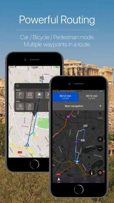 Greece Offline Navigation Screenshot