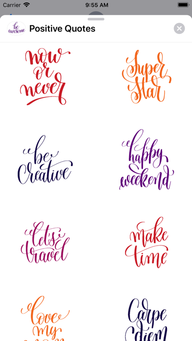 Positive Quotes Stickers screenshot two