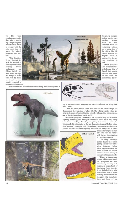 Screenshot for Prehistoric Times Magazine in United States App Store