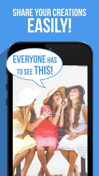 Speech Caption: Comic Meme Text Bubbles on Photos screenshot-4