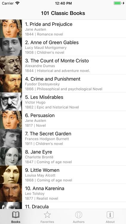 101 Classic Books screenshot-0