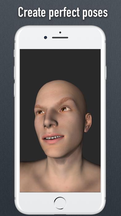Face Model - 3D virtual human head for artists screenshot two