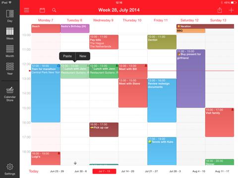 WeekCal for iPad iPad app afbeelding 1