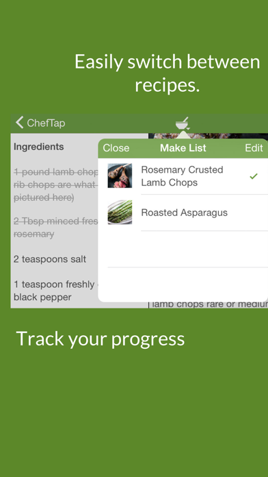 ChefTap Recipe Organizer Screenshot