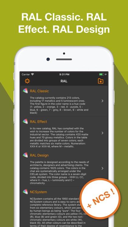 RAL color chart + Ncs fan deck screenshot-3