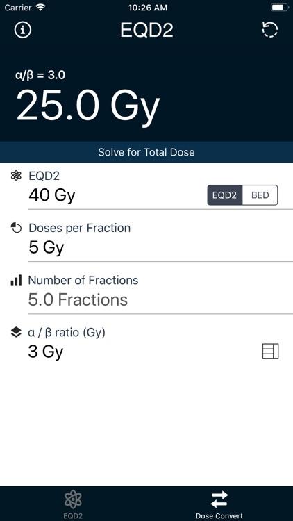 EQD2 Calculator