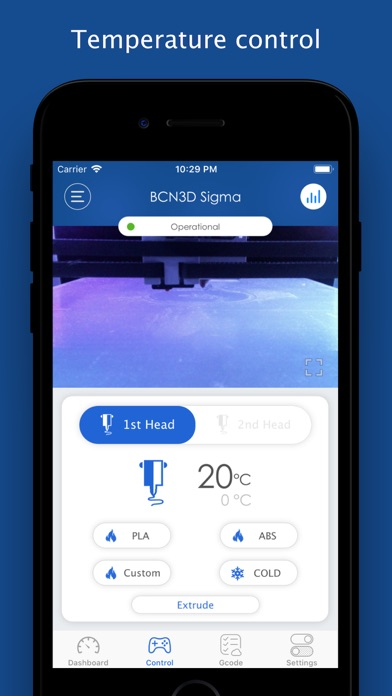 OctoPanel for OctoPrint iphone captures décran