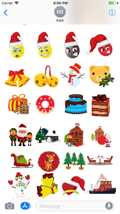 Christmas Holiday 3D Emoji screenshot-3