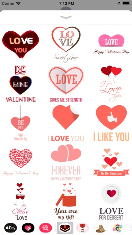 Love Message - Flat Stickers