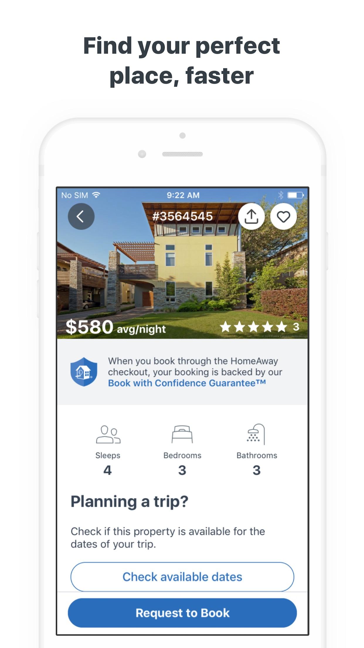 HomeAway Vacation Rentals Screenshot