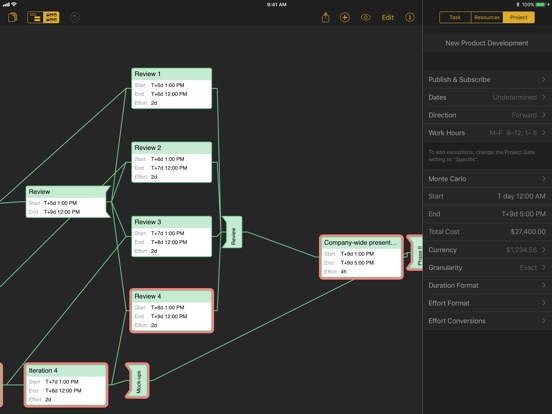 OmniPlan 3 Screenshots
