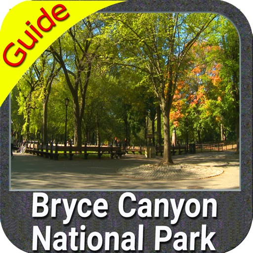Bryce Canyon NP gps and outdoor map with Guide