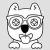 Nerdy Puppy: Cute Dog Stickers