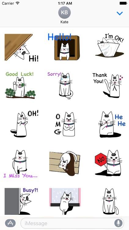 Animated Cute Kitty Sticker