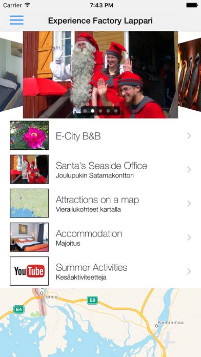 Visit Sea Lapland app screenshot one