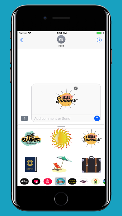 Summer is Coming - Stickers screenshot four