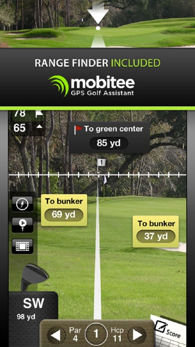Screenshot for Mobitee Golf GPS and Scorecard in New Zealand App Store