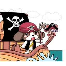 Beagle Dog Cute Pirate Sticker