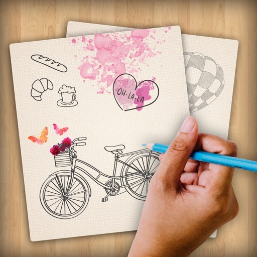 Draw and Color to make notes Icon
