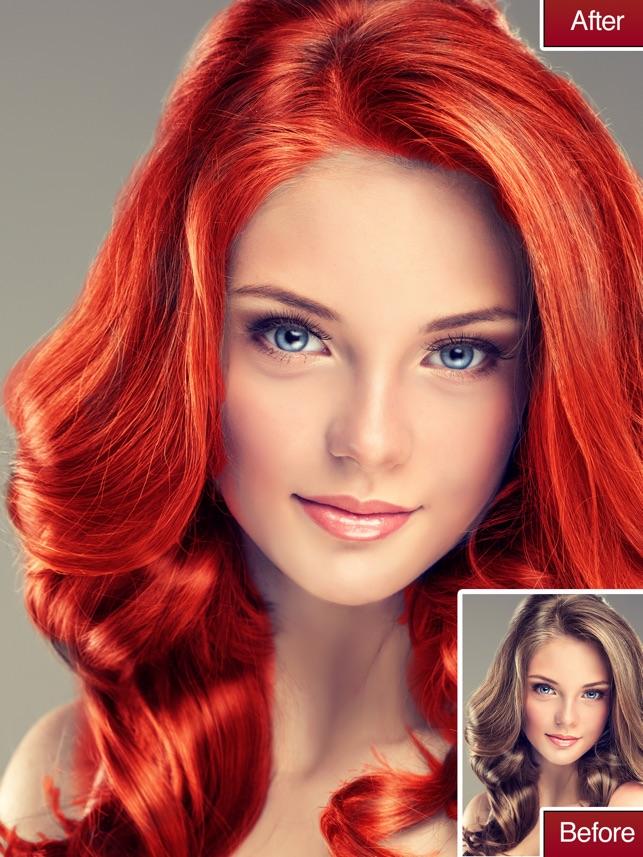 Hair Color Ändern Haarfarbe im App Store