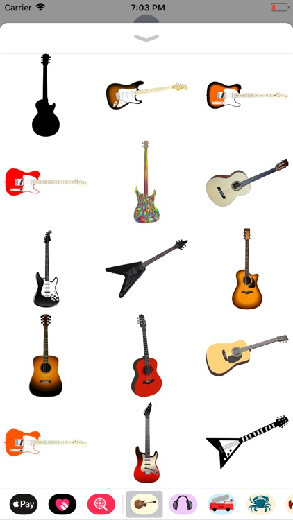 Groovy Guitar Stickers screenshot-3