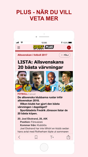 Sportbladet on the App Store cdc5be67127f4