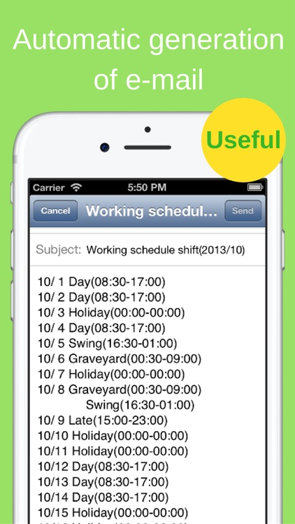 Shift Planning Calendar screenshot-4