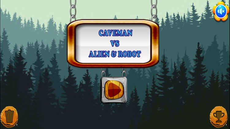 Caveman VS Aliens Robots screenshot-0