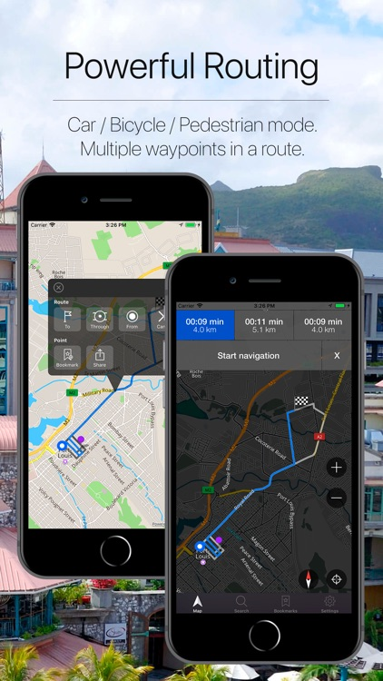 Mauritius Offline Navigation