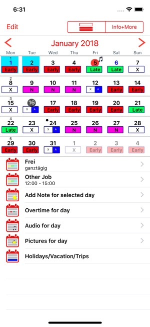 Roster-Calendar on the App Store